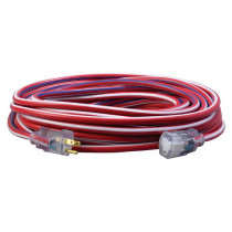 12/3 SJTW Extension Cord - 100ft - Lighted Ends