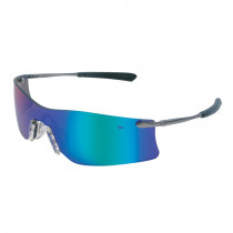 MCR Safety Rubicon® T4 Series Safety Glasses, Emerald Mirror Lens