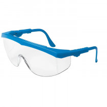 MCR Safety TK1 Series Safety Glasses, Side Shields, Blue Frame, Clear Lens