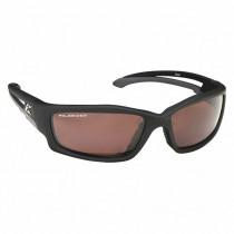 Edge Eyewear® Kazbek (TSK-XL215) Safety Glasses, XL Wide Fit Black Frame, Polarized Copper Driving Lens