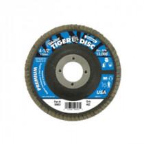 Tiger® 50519 Angled Premium Type 29 Coated Flap Disc -  4-1/2 in Dia -  5/8-11 -  60 Grit -  Medium Grade