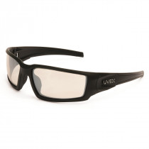 Uvex Hypershock™ Indoor/Outdoor Safety Glasses, Matte Black Frame