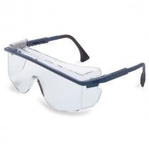 Uvex® Astro OTG® 3001 Protective Glasses, Blue Frame, Clear Lens
