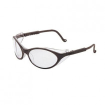Uvex® Bandit™ Safety Glasses, Black Frame, Clear Lens, Ultra-Dura Anti-Scratch Coating