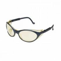 Uvex® Bandit™ Safety Glasses, Black Frame, Amber Lens, Ultra-Dura Anti-Scratch Coating