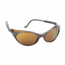 Uvex® Bandit™ Safety Glasses, Black Frame, Espresso Lens, Ultra-Dura Anti-Scratch Coating