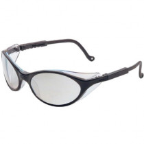 Uvex® Bandit™ Safety Glasses, Black Frame, SCT-Reflect 50 Lens, Ultra-Dura Anti-Scratch Coating