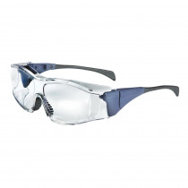 Uvex® Ambient™ OTG (Over The Glass) Safety Glasses, Blue Frame, Clear Lens (Large)