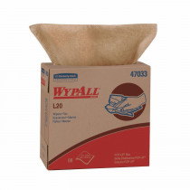 WypAll* 47033 Single Use Cleaning Wiper -  9.1 in W -  88 Sheets -  Paper -  Tan