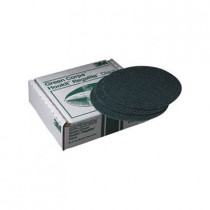 Green Corps™ Hookit™ Regalite™ 750U Coated Abrasive Disc - 8 in Dia - No Hole - 80E Grit - Coarse Grade - Ceramic Alumina