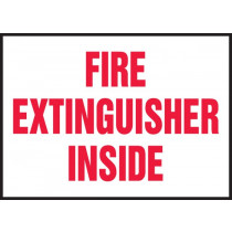 Fire Extinguisher Inside 3x5 Sticker