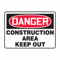 OSHA Danger Safety Sign: Construction Area - Keep Out