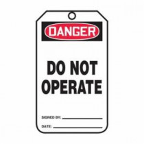 OSHA Danger Safety Tag: Do Not Operate - PF Cardstock