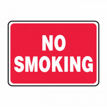 Accuform® MSMK423VP Semi-Flexible No Smoking Sign -  7 in H x 10 in W -  White/Red -  Plastic
