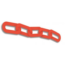 Red Standard Plastic Chain Links, 100 ft