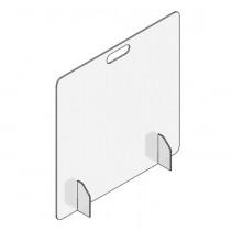 "Accu-Shield™ SG Clear Barrier Panels: Countertop-Desktop Front Panel, 24"" x 24"""