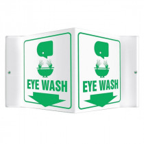 Accuform® PSP601 Projection™ 3D Safety Sign: Eye Wash
