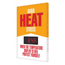 "Accuform Heat Stress Sign with Temperature Display: ""Avoid Heat Stress"""