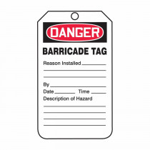 Accuform® TAB104PTP Safety Tag 25 per PK -  5-3/4 in H x 3-1/4 in W -  RP-Plastic