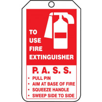 Mini Record Safety Tag: Fire Extinguisher Inspection Record