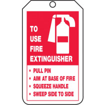 Fire Extinguisher Safety Tag