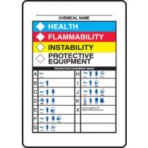 """HMCIS Chemical/PPE Sign 10""""x14"""""""