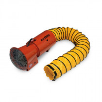 """Allegro 9506-25 8"""" DC Axial Blower w/ Canister, 25' Ducting, 1/4 HP"""