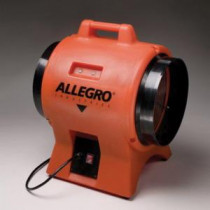 Allegro® 9539-12 Industrial Stackable Axial Blower -  17 in L -  12 in Duct Dia -  1 hp -  115/230 VAC -  1 Phase -  Safety Orange