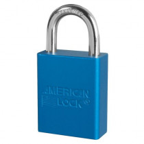 "American Lock® A1105BLU Aluminum Safety Lockout Padlock, 1/4"" Shackle, Blue"