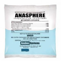 Anabec ANA2000 Disinfectant -  3 oz Packet -  Faint Ammonia -  Liquid -  Clear Blue