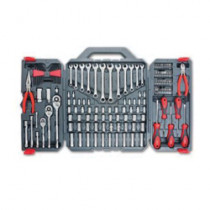 Crescent® CTK148MP Metric/SAE Mechanics Tool Set -  148 Pieces -  Chrome Vanadium Steel -  Gray