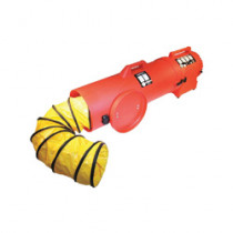 AIR® Axial Confined Space Blower With 25 ft Ducting -  16 in L -  8 in Duct Dia -  0.33 hp -  115 VAC -  Red