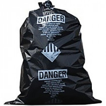 30X40 Black 2.5 mil Asbestos-Blend Bag 100/RL 100 per RL