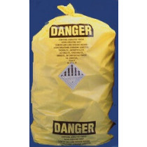 33X50 Yellow Asbestos Label (6mil) 75/Bx