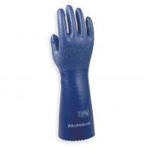 Showa Best® NSK24-08 Unsupported Chemical Resistant Gloves -  SZ 8 -  S -  Nitrile Palm -  Blue -  Nitrile