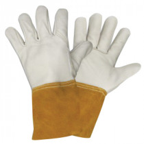 Cordova 8135-XL Standard Welding Gloves -  XL -  Russet/White -  Wing Thumb -  Grain Cowhide Leather