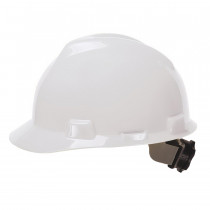 Cordova H24R1 Duo Safety Hard Hat -  White -  4-Point Ratchet Suspension -  Polyethylene Shell -  Class E