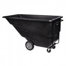 Continental Commercial Products Standard Tilt Truck, 1.1 Cubic Yard, Black