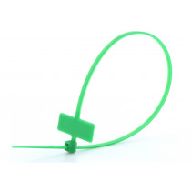 8 in Green Miniature ID Cable Tie