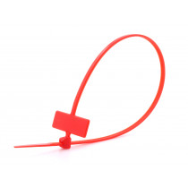 8 in Red Miniature ID Cable Tie