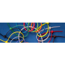 """4"""" Colored Cable Ties, 18lb, 100pk, Purple"""
