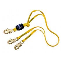 DBI-SALA® 6 ft Web Double-Leg 100% Tie-Off w/Snap Hooks Each End