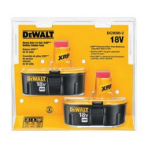 DeWALT® XRP™ DC9096-2 Slide Cordless Battery Combo Pack -  2.4 Ah NiCd Battery -  18 V (Bare Tool)