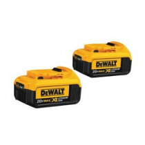 DeWALT® 20V MAX* DCB204-2 2-Piece High Capacity Premium Cordless Battery Combo Pack -  4 Ah -  20 V (Bare Tool)