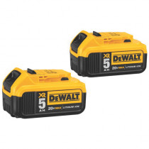 DeWALT® DCB205-2 Double Pack Battery Pack -  5 Ah 20 V -  Li-Ion Battery -  For Use With Entire Line of DeWALT 20V Max Tools (Bare Tool)