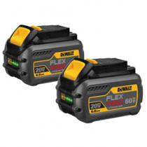 DeWALT® FLEXVOLT™ DCB606-2 Battery Pack -  6 Ah Li-Ion Battery -  20/60 V -  For Use With DEWALT 20V/60V Cordless Tools