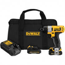 DeWALT® DCF610S2 Light Weight Cordless Screwdriver Kit -  1/4 in Chuck -  1 V -  Li-Ion Battery -  Plastic Housing