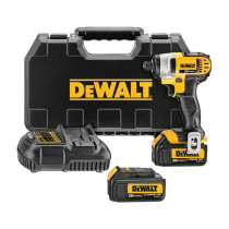 DeWALT® DCF885M2 Compact Cordless Impact Driver Kit -  1/4 in Hex Drive -  0 - 3200 bpm -  1400 in-lb Torque -  20 V