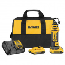 DeWALT® DCS551D2 Cordless Cut-Out Tool Kit -  1/4 in -  1/8 in Collet -  1 in Cutting -  20 V -  2 Ah Li-Ion Battery
