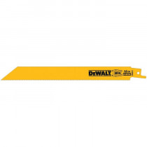 DeWALT® DW4821 Straight Back Reciprocating Saw Blade -  8 in L x 3/4 in W -  18 -  Bi-Metal Body